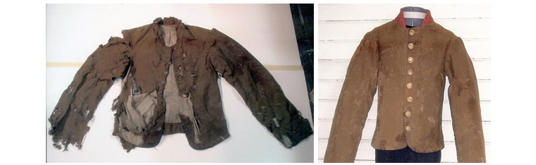 Exhibition Shell Jacket : Gallery of our work jessica hack textile restoration